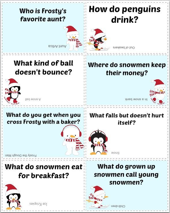Free Printable Winter Lunch Box Jokes In 2020 Christmas Jokes For Kids Lunchbox Jokes Funny Christmas Gifts