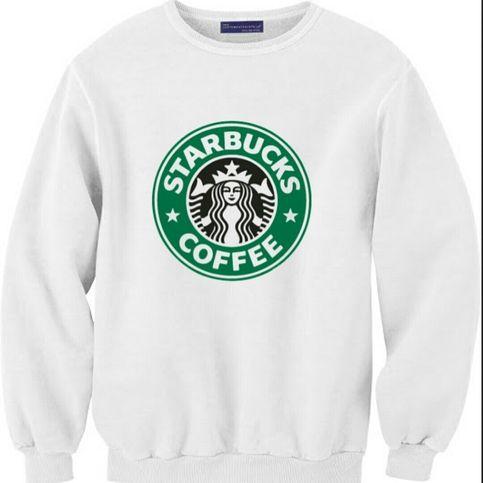 Starbucks Graphic Crewneck from Emoji Apparel