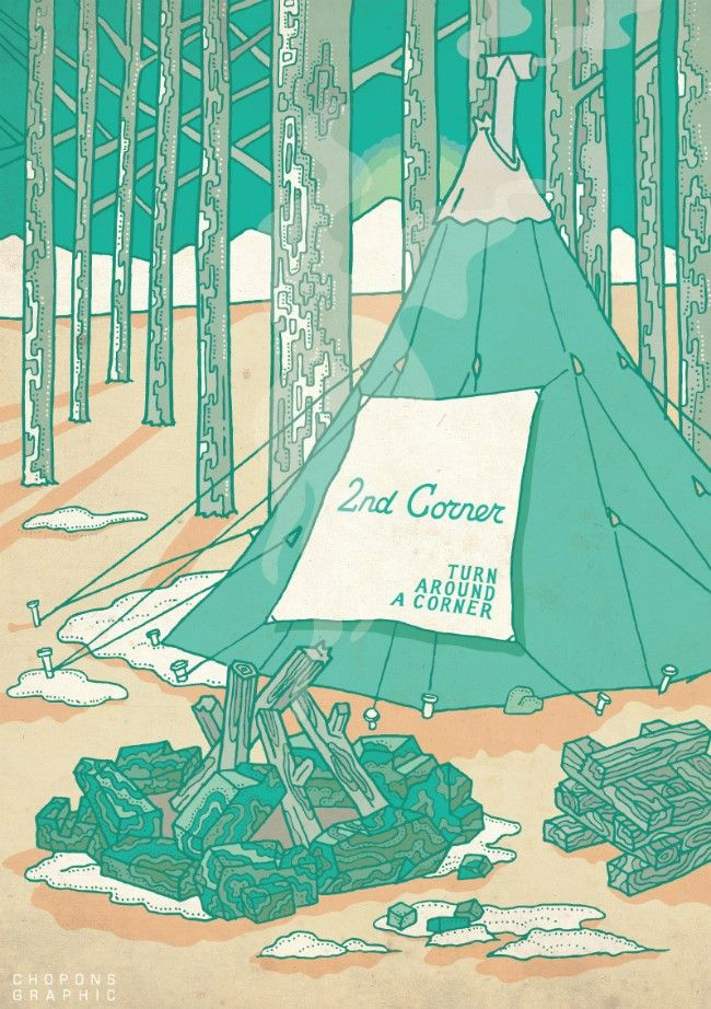 Let's camp! - illust by CHOPONS