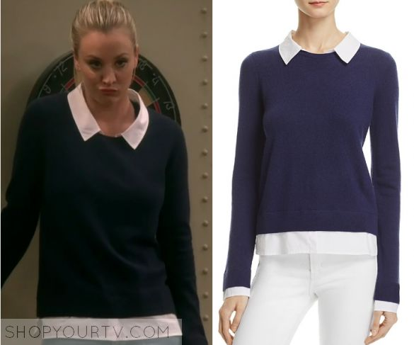 """The Big Bang Theory: Season 10 Episode 22 Penny's Navy Crew Sweater 