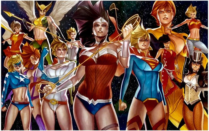 """Thony Silas are this two-work series called """"DC Girls Vs. A-Force."""" You can find more of his work at hisblog"""