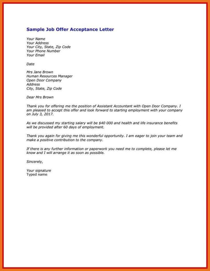 Acceptance letter for internship offer fresh 5 6 unpaid