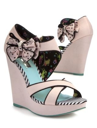 Pink (Pink) Babycham Pink Nia Strappy Wedges  | 269108570 | New Look