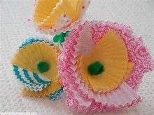 flowers made from cupcake liners - Bing images
