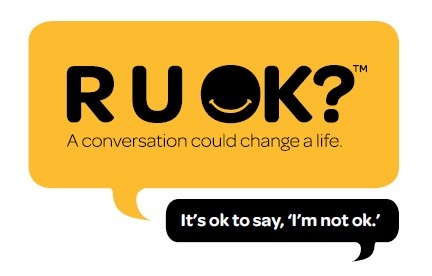 R U OK Day. Awareness for depression and mental illness. Get on it peeps - the more awareness the better x