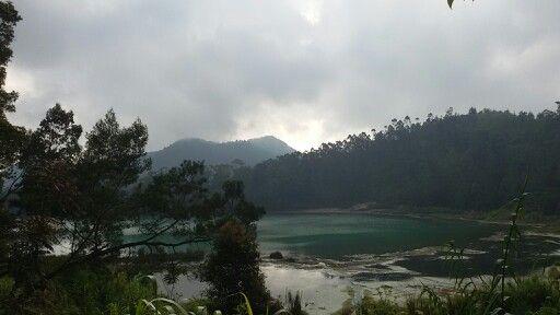 Telaga Warna. the Beautiful of Dieng Indonesia.