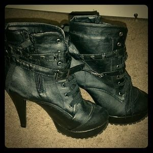 I just added this to my closet on Poshmark: *Black Studded Ankle Boots!*. Price: $35 Size: 7