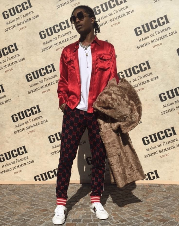 Asap Rocky in the Gucci Ace Sneakers Mens Fashion | #MichaelLouis - www.MichaelLouis.com