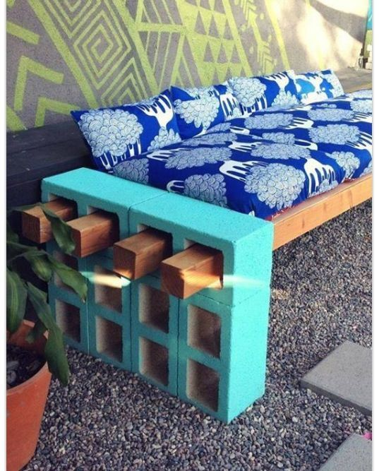 painted cinder block furniture