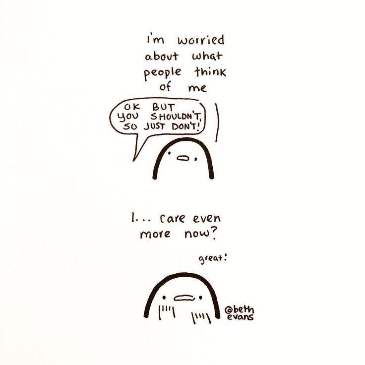 """- Beth Evans (@bethdrawsthings) on Instagram: """"Saturday night anxiety fun!"""""""