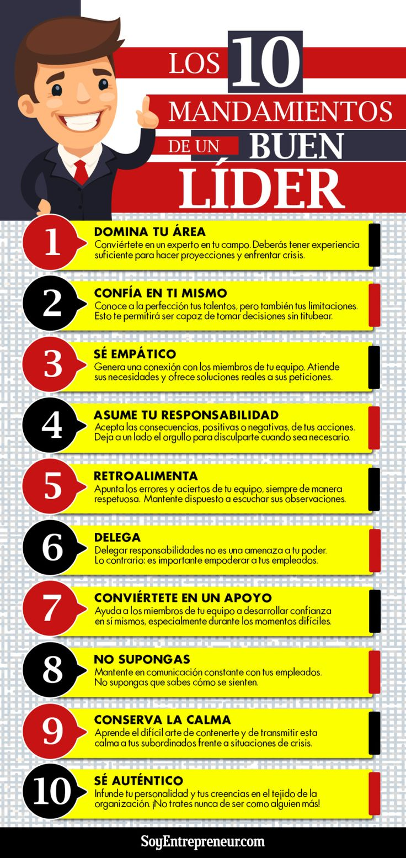 10 mandamientos del líder #infografía