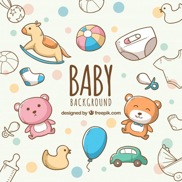 Download Baby Elements Background With Cute Toys And Clothes For Free Colorful Backgrounds Cute Toys Cute Wallpaper Backgrounds