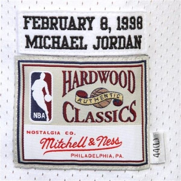 Camiseta Jordan NBA Blanca Michell & Ness Chicago Bulls 23 All Star 98