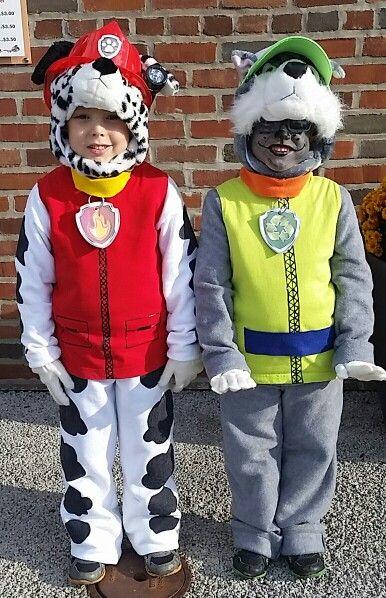 Paw patrol Marshall & Rocky costume | Things I've made! | Paw patrol costume, Halloween costumes, Halloween