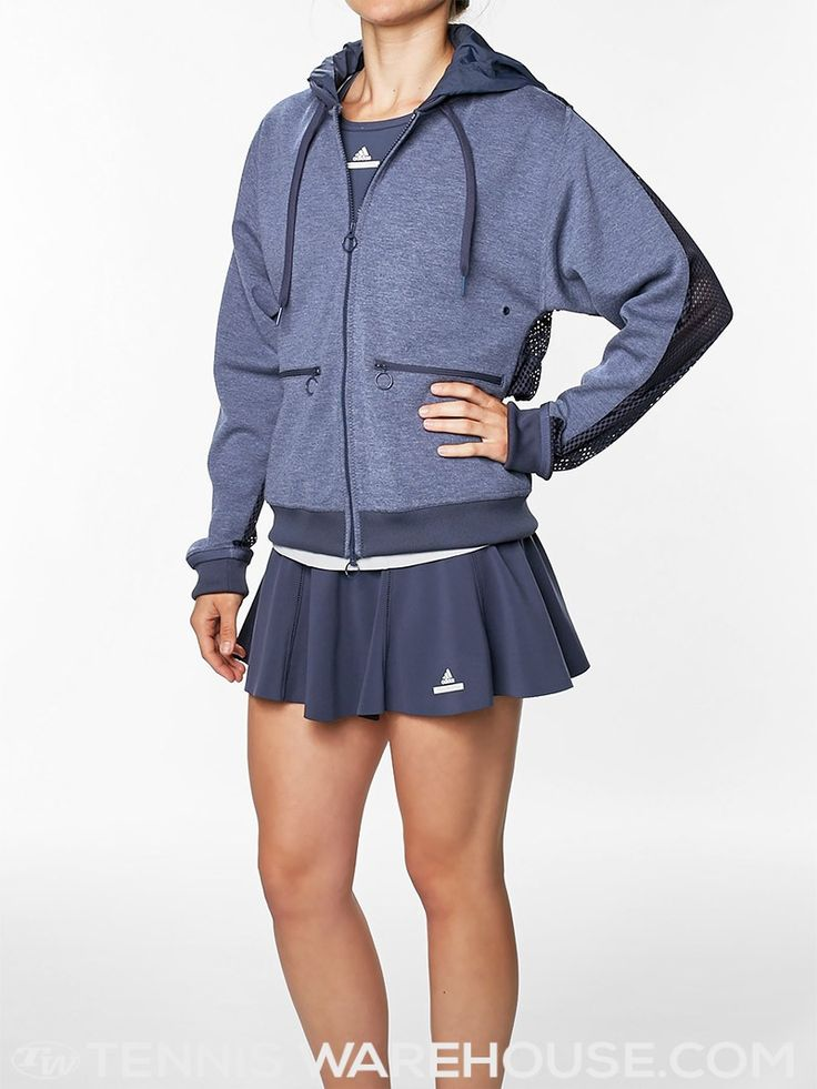 adidas Women's Winter Stella Barricade Jacket with Stella McCartney Tennis Skirt