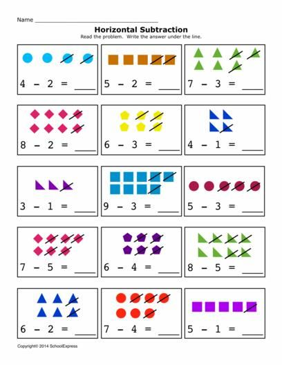 Free Math Worksheets Subtraction Differences 0 10