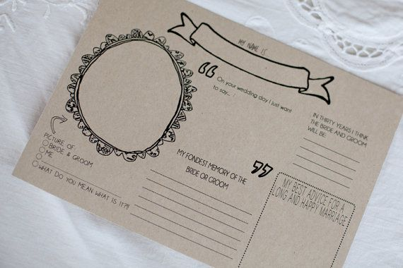 Wedding placemat / Guest book printable file. by iDearPapergoods