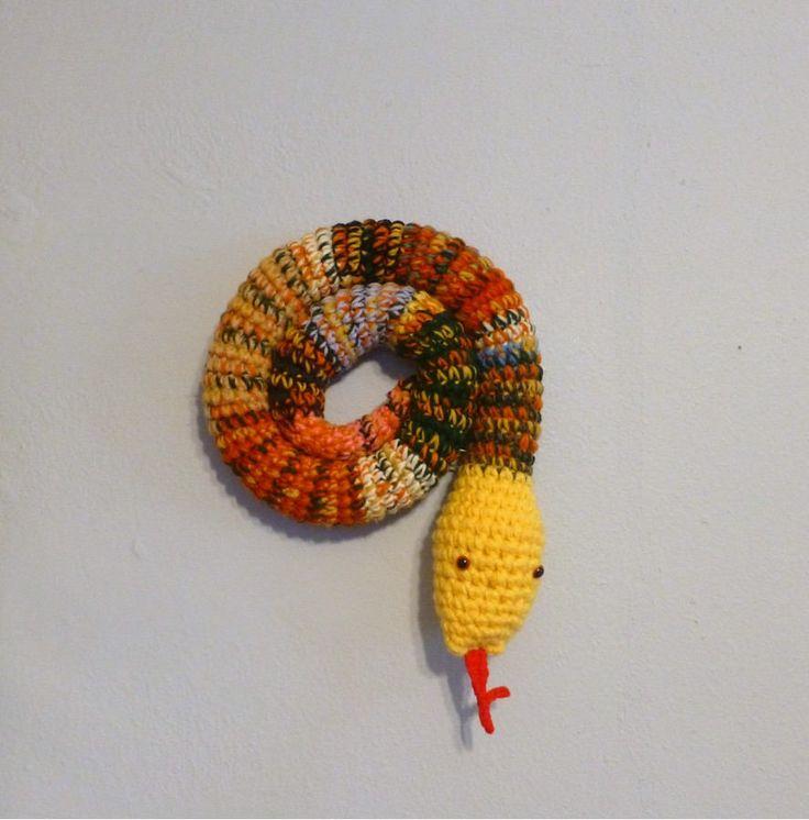 Door Draft Stopper Snake, Door Snake Mixed Colors, Crochet Draft Dodger, Door Draft Snake, Window Sitter, Stuffed Snake, 40 inches by DebbieCrochets on Etsy