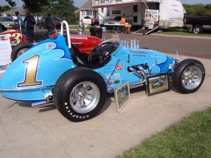 Usac Champ Car On Dirt Jack Hewitt I Think On The Duquoin Mile
