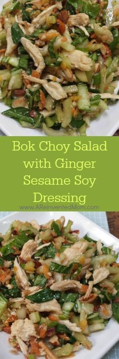 Bok choy salad, Dressing and Salads on Pinterest