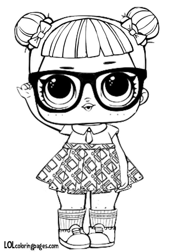 Teacher S Pet Lol Doll Surprise Free Coloring Page Lol