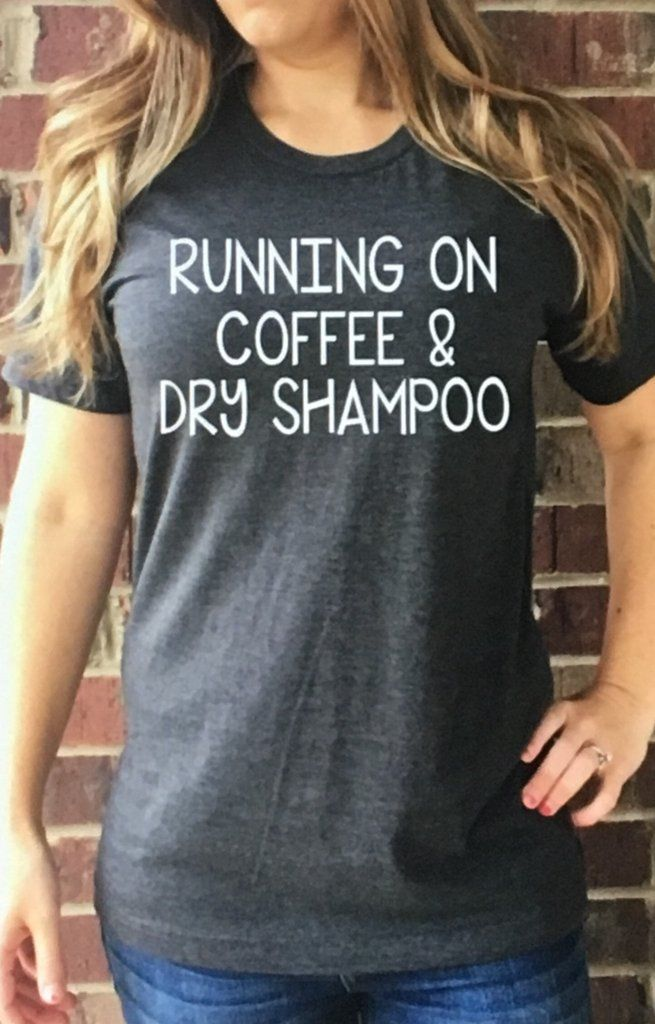 Fun Graphic Tee That All of Us Busy Woman Can Relate To. Dark Gray with White Letters. Fits true to size, but fitted. Order up for a looser fit, Preshrunk. 50% Poly, 25% combine ring spun cotton, 25%