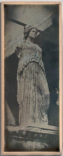 Athènes. Caryatides. Ereckt :Joseph-Philibert Girault de Prangey , 1804–1892) :1842 :Daguerreotype