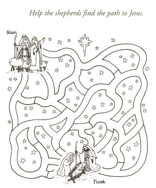 Religious Christmas Coloring Pages For Kids » Fk coloring pages
