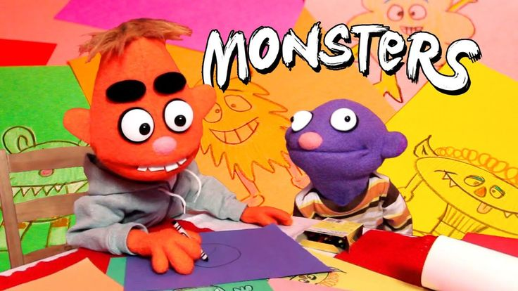 Monsters song - they draw monsters, sing about attributes