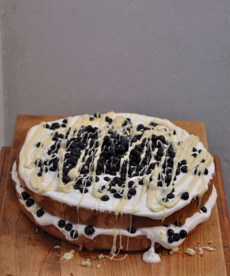 blueberry - white chocolate - whipped cream cake