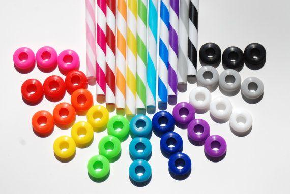 12 oeillets colorés silentblocs pour bricolage Mason Jar tasses, gobelets, Silicone oeillets nourriture sûre, de qualité alimentaire pour les pailles réutilisables, mariage on Etsy, 3,80€