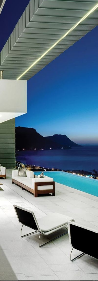 A modern home overlooking clifton in cape town south africa this home is absolutely breathtaking with views of the atlantic ocean and lions head