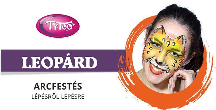Leopárd arcfestés: nézd meg, hogyan tudsz megfesteni egy profi mintát egyszerűen! http://tytoo.hu/csillamtetovalas-blog/arcfestes/tanulj-meg-egy-leopard-arcfestest-lepesrol-lepesre.html