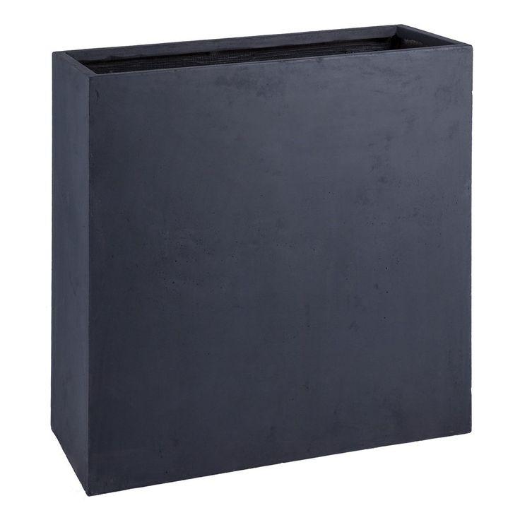 jardiniere haute et etroite 15 jardini re muret troite noire sur roulettes. Black Bedroom Furniture Sets. Home Design Ideas