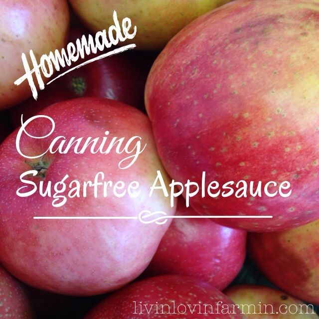 Canning homemade applesauce without sugar or preservatives. #homesteading #canning