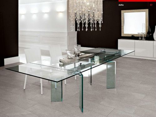 all glass dining table u2013 luxurious set for perfect dinner