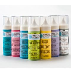 Martha Stewart Crafts™ Glass Paint-need to do something with the ever growing collection of vases from flower bouquets