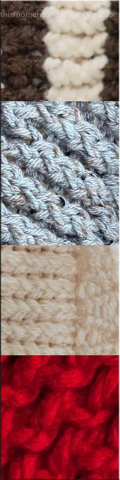 This Moment is Good...: LOOM KNITTING STITCH GUIDE