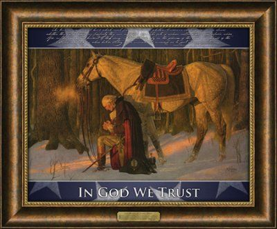 the prayer at valley forge framed art