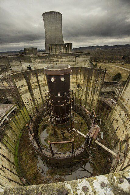 Abandoned unfinished nuclear reactor