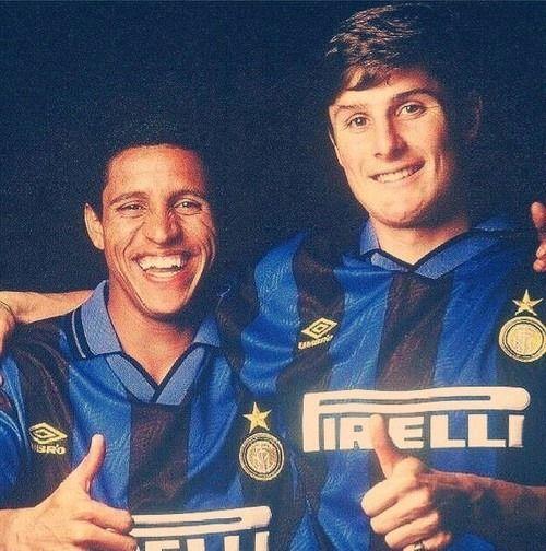 Roberto Carlos and Javier Zanetti Internazionale