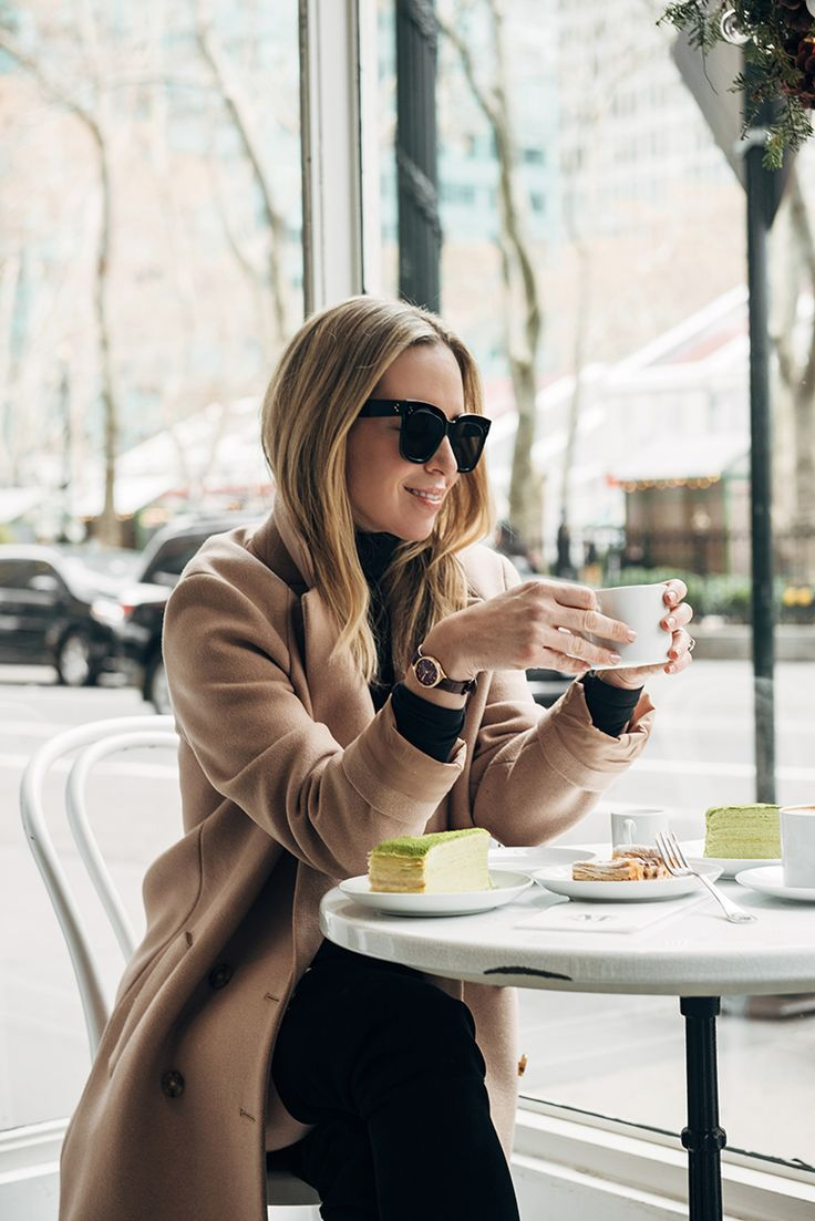 Camel Coat, Coffee Shop, Winter Style, Winter Outfit Idea, Helena of Brooklyn Blonde