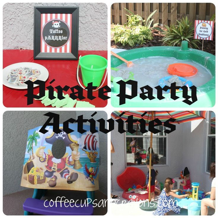 Pirate activities for a birthday party!