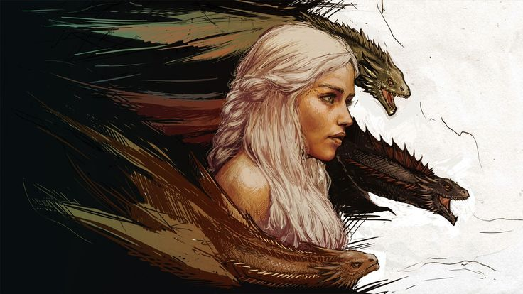 Game of Thrones Khaleesi Wallpaper - 1920 x 1080.  Click the link for the full size - http://digitalart.io/game-thrones-khaleesi-wallpaper/