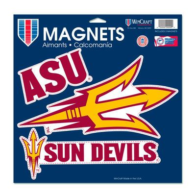 "Arizona State Sun Devils WinCraft 11"" x 11"" 3-Pack Car Magnet Set"
