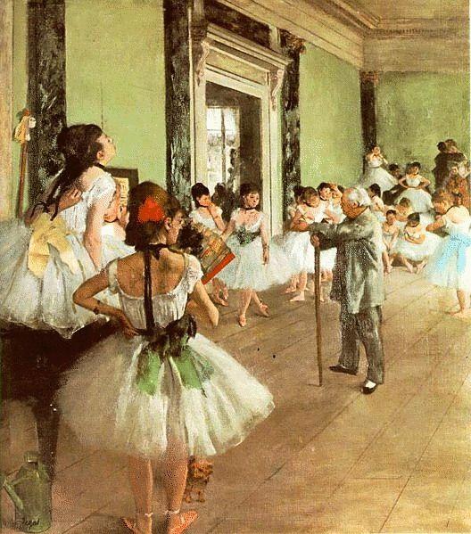 Degas__Dancing_Class clip art di quadri_famosi