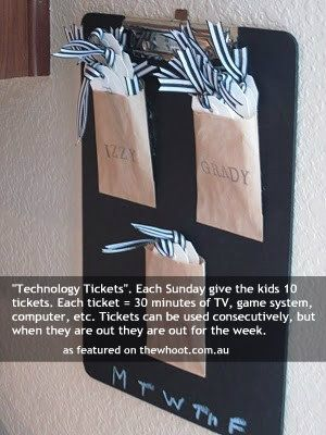 technology tickets, I think we need an equivilent for adults/parents too!