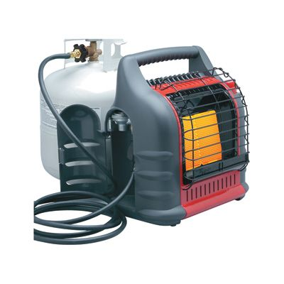 PROPANE HEATER ----------------- The Mr. Heater Big Buddy™ provides temporary heat for barns, sheds, cabins, campers, patios, garages, sporting events, hunting blinds and more. Dual heating system combines radiant heat comfort with convection heat air flow for maximum heating efficiency.