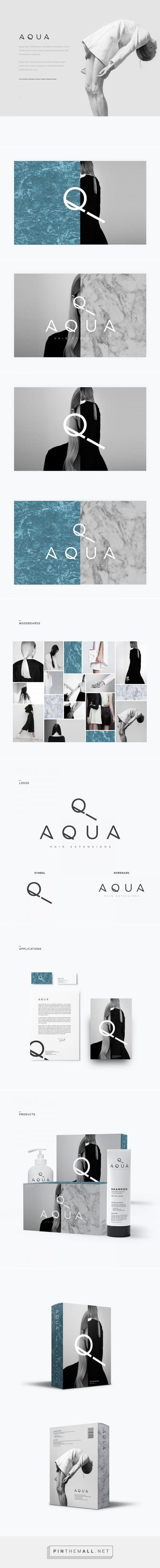 Aqua - Hair Extensions on Behance {cT}