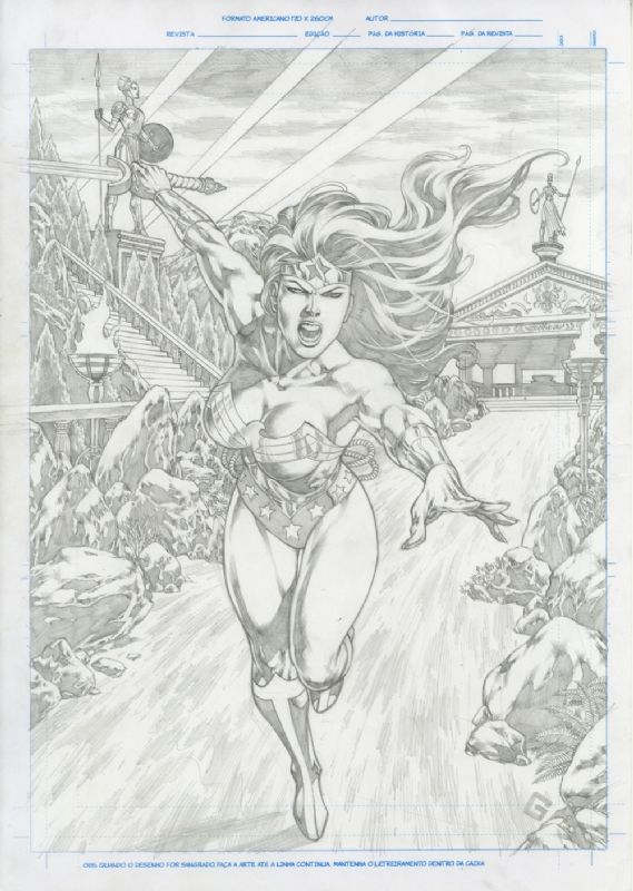 Fs Wonder Woman Attack Original Art Allan Goldman Comic Art